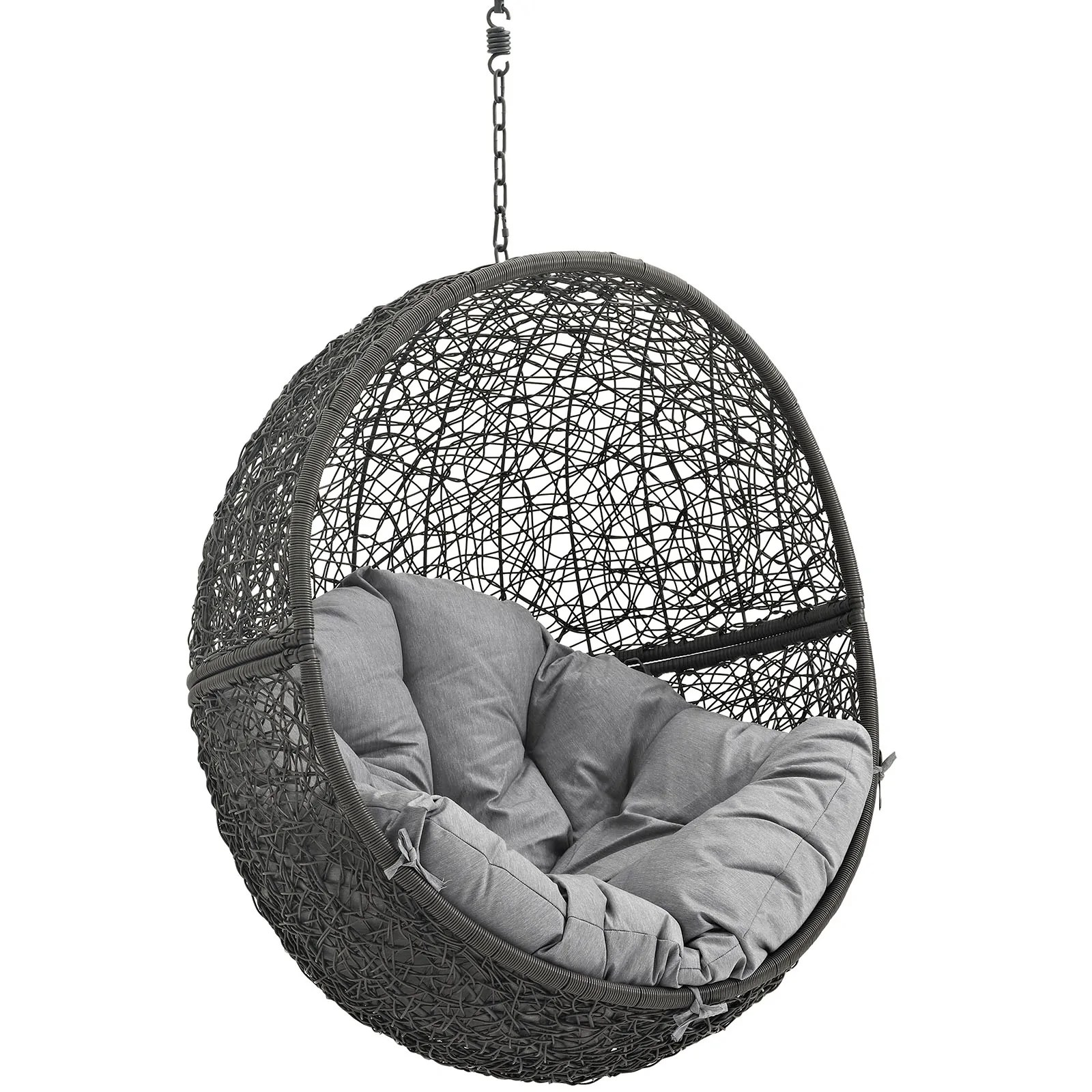 hanging chair without stand poang instructions modway hide outdoor patio swing
