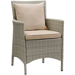 Gray Rattan Dining Chairs Cane Woven Modway Outdoor On Sale Eei 2802 Lgr Bei Conduit Patio Wicker Armchair Light