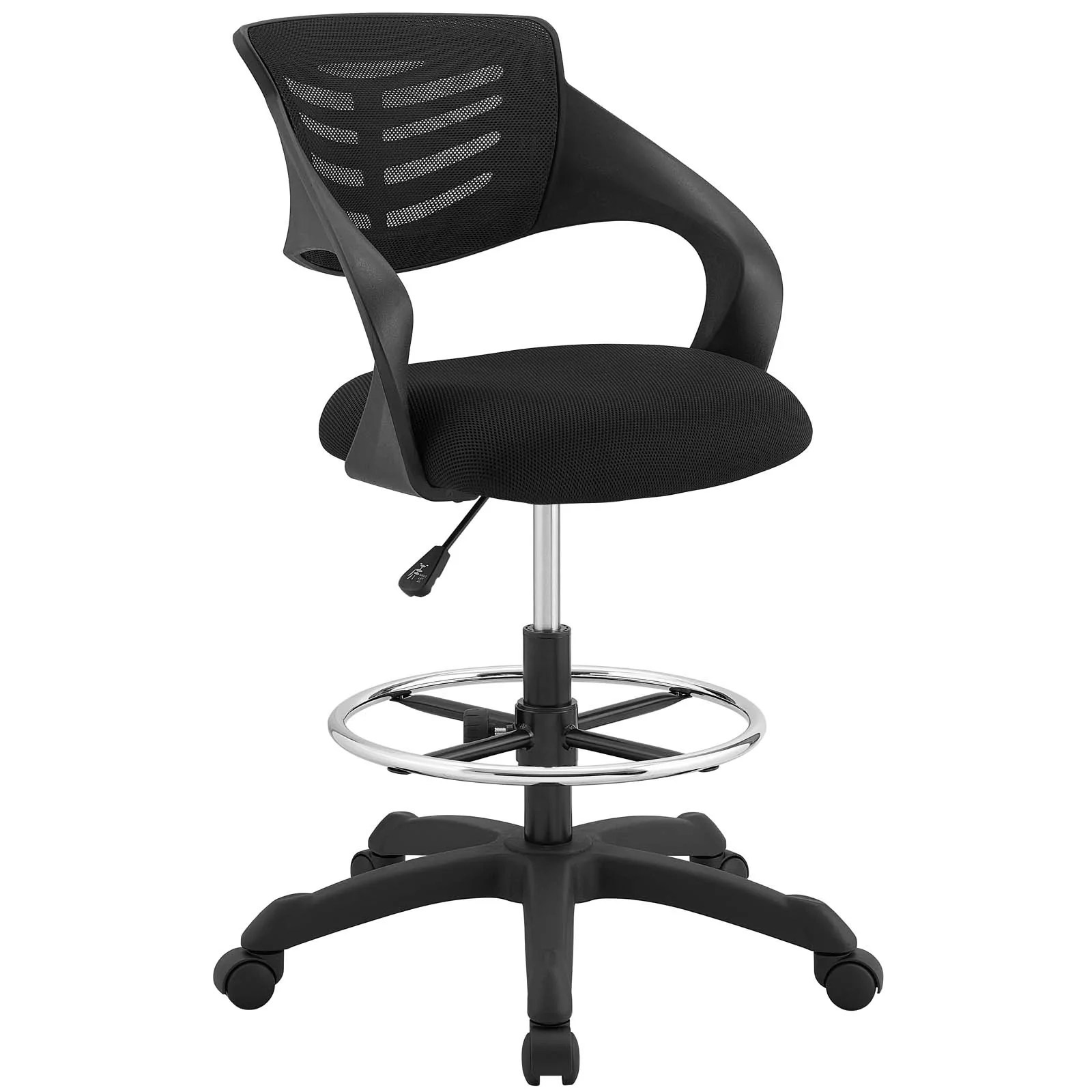 modern drafting chair tattoo chairs for sale modway on eei 3040 blk thrive breathable mesh black