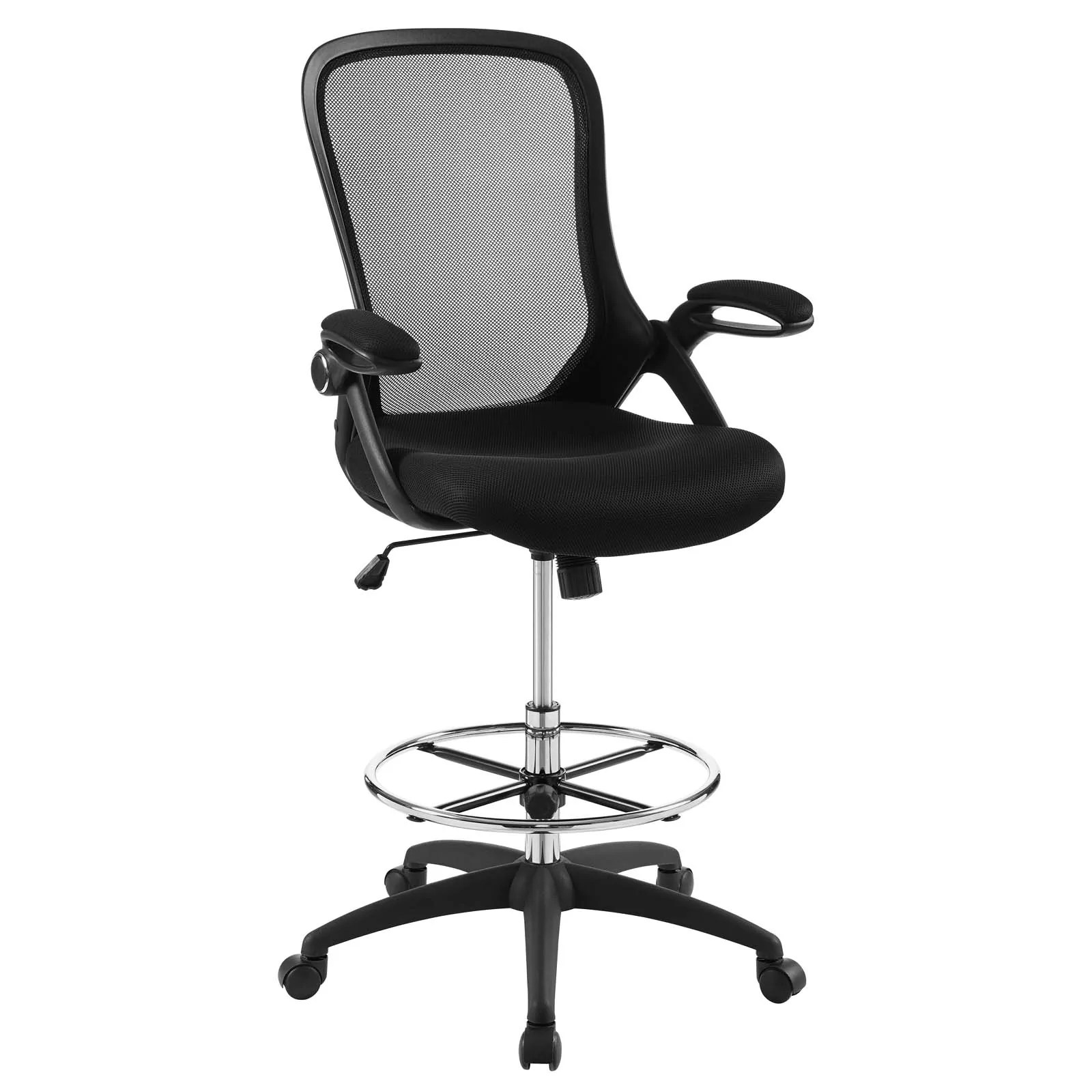 mesh drafting chair car seat office chairs uk modway on sale eei 3190 blk assert black