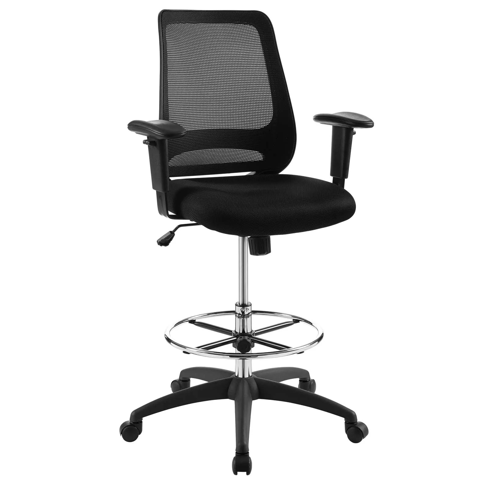 mesh drafting chair folding kathmandu modway office chairs on sale eei 3196 blk forge black