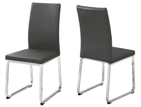 leather chrome chair arm chairs and at contemporary furniture warehouse dining 2pcs 38 h grey look