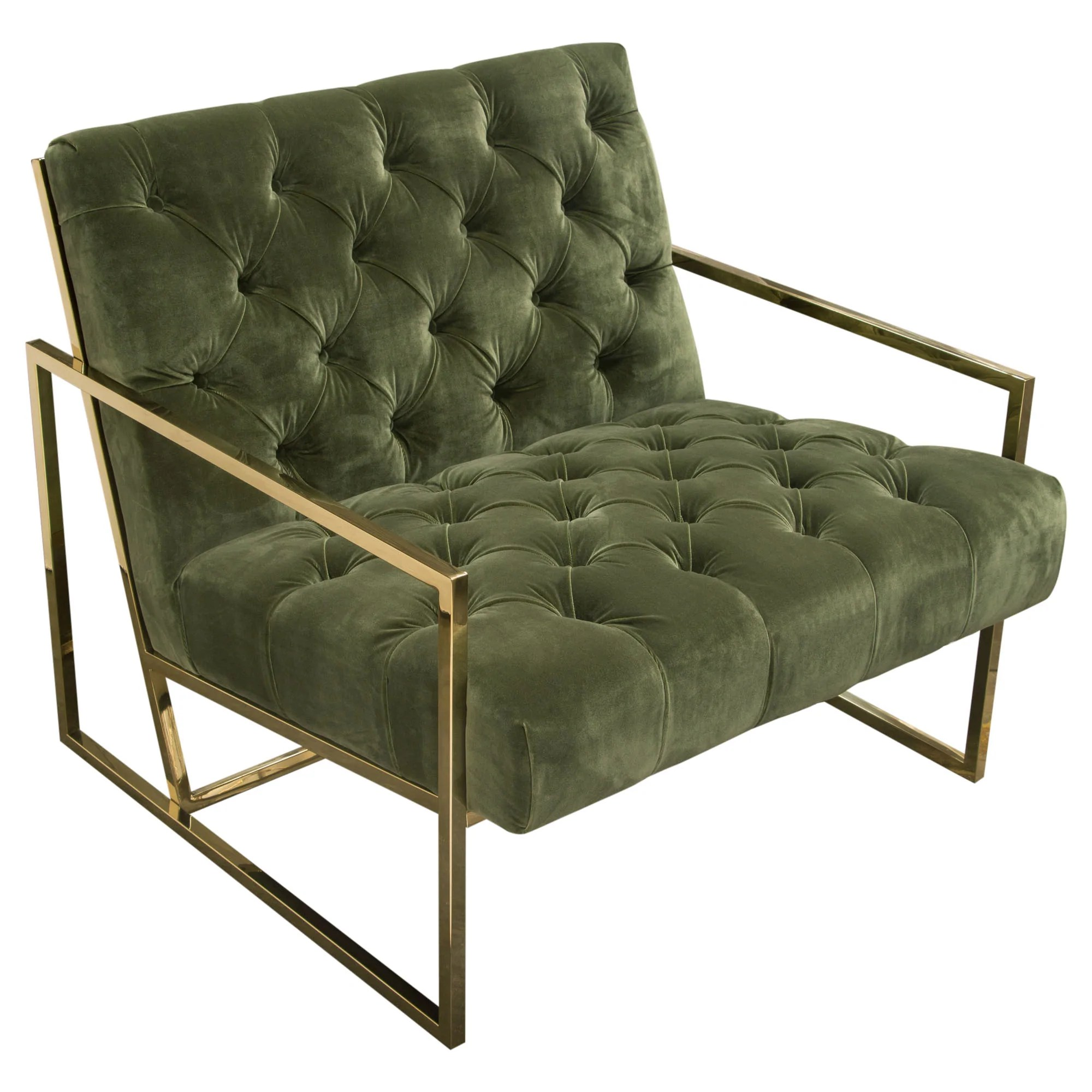 olive green accent chair double papasan amazing deal on diamond sofa luxechgn luxe in