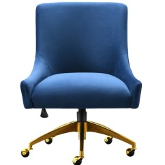 Swivel Chair Office Warehouse Revolving Video Buy Tov Furniture H7233 Beatrix Navy At