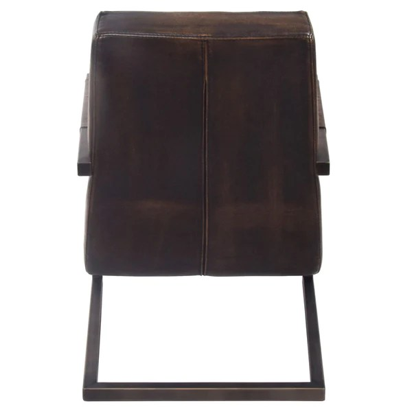 distressed leather desk chair lycra covers for hire buy new pacific direct 1060006 jonah industrial pu arm bronze accent