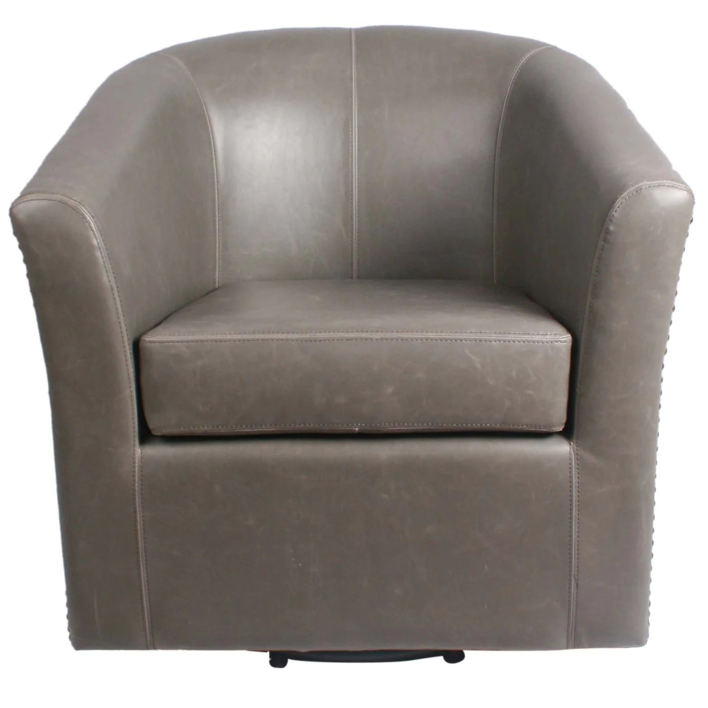 Vintage Swivel Chair Buy New Pacific Direct 1900046 V04 Ernest Bonded Leather Swivel Chair Vintage Gray At Contemporary Furniture Warehouse