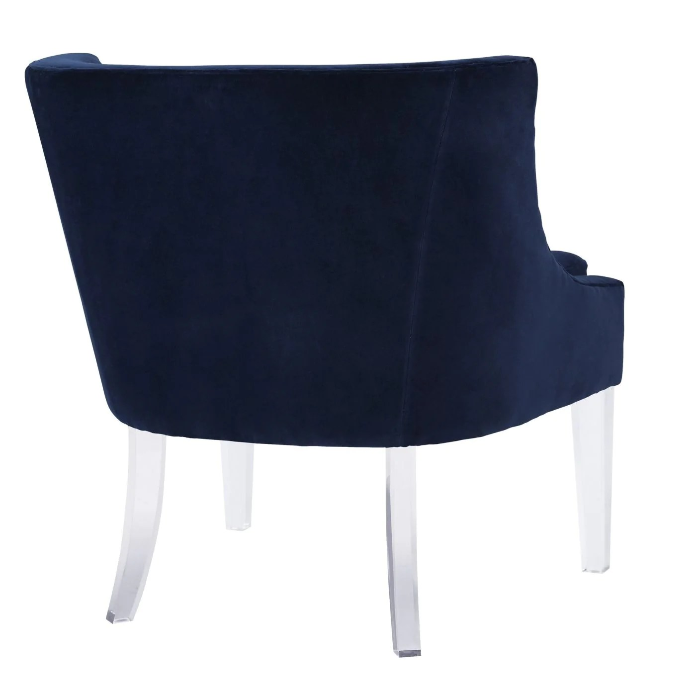 Lucite Chair Buy Tov Furniture Tov A105 Myra Blue Velvet Chair With Lucite Legs At Contemporary Furniture Warehouse