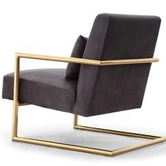 Steel Chair Gold Reindeer Christmas Covers Tov Furniture Elle Grey Velvet Stainless