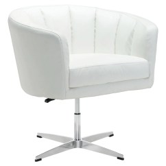 White Faux Leather Chair Swing With Stand Outdoor Amazing Deal On Zuo Modern 100769 Wilshire Occasional