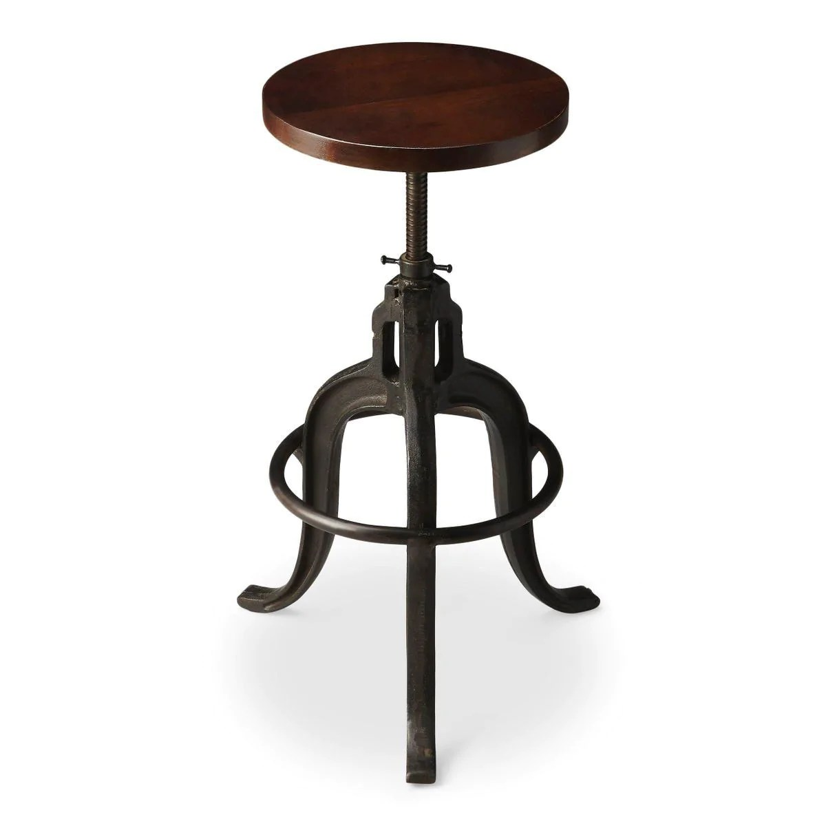 revolving chair colour fishing with headrest gladney transitional round bar stool multi color