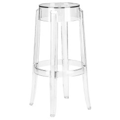 Ghost Bar Chair Pink Christmas Covers Amazing Deal On Edgemod Em 119 Clr Burton Stool In Clear