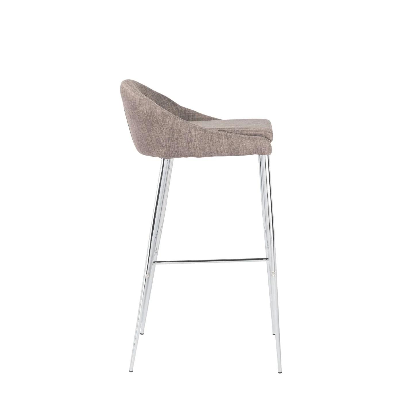 bar stool chair legs walmart wheel chairs euro style brielle b in dark gray with chrome