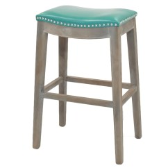 Turquoise Chairs Leather Diy Hammock Chair Stand Plans Amazing Deal On New Pacific Direct 198631b 323 Elmo Bonded Bar Stool Mystique Gray Frame