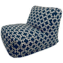 Blue Bean Bag Chairs Linen For Sale Majestic Home Navy Links Chair Lounger At