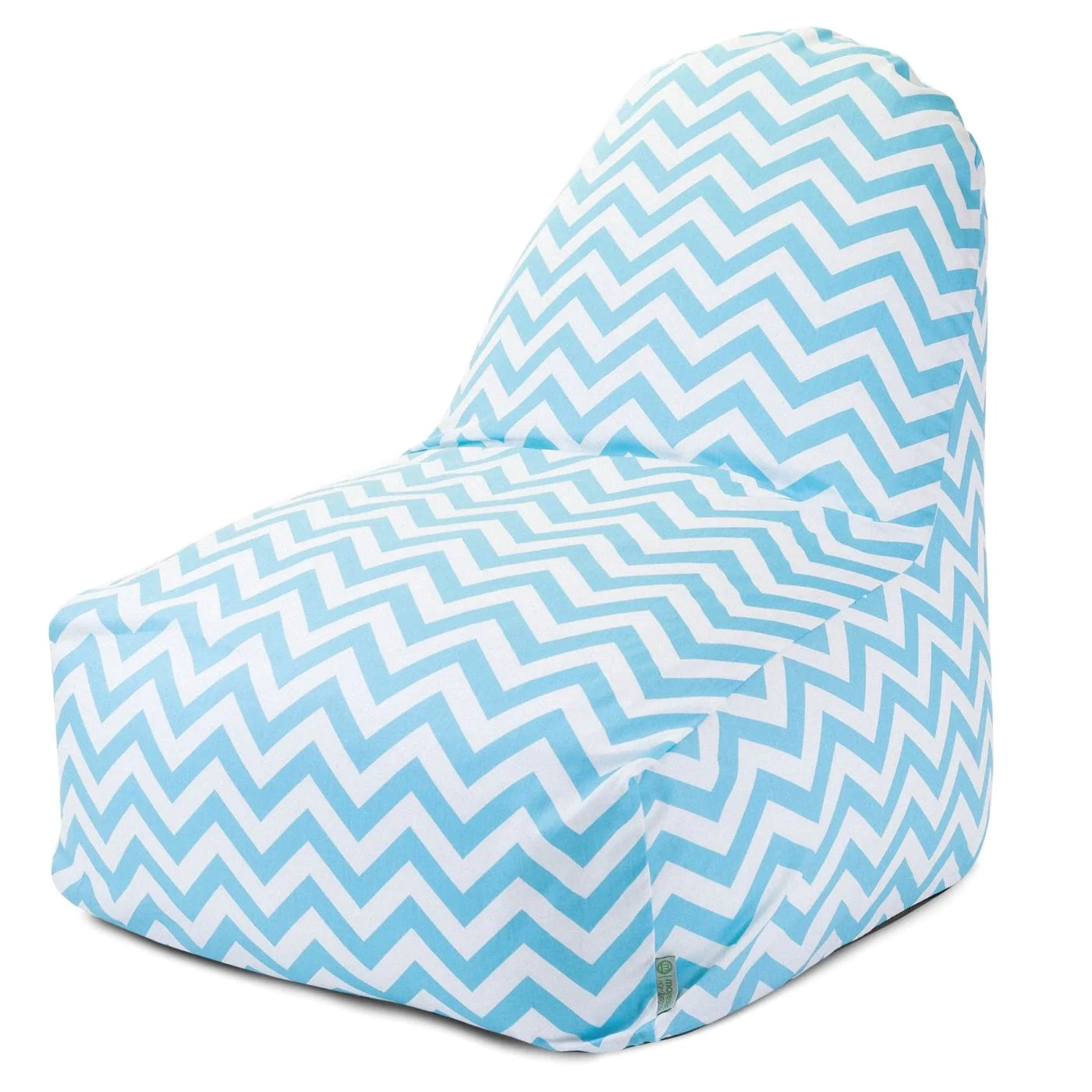 blue bean bag chairs office chair on rent tiffany chevron kick it majestic home