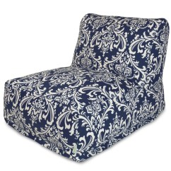 Blue Bean Bag Chairs Stack 4 Less Navy French Quarter Chair Lounger By