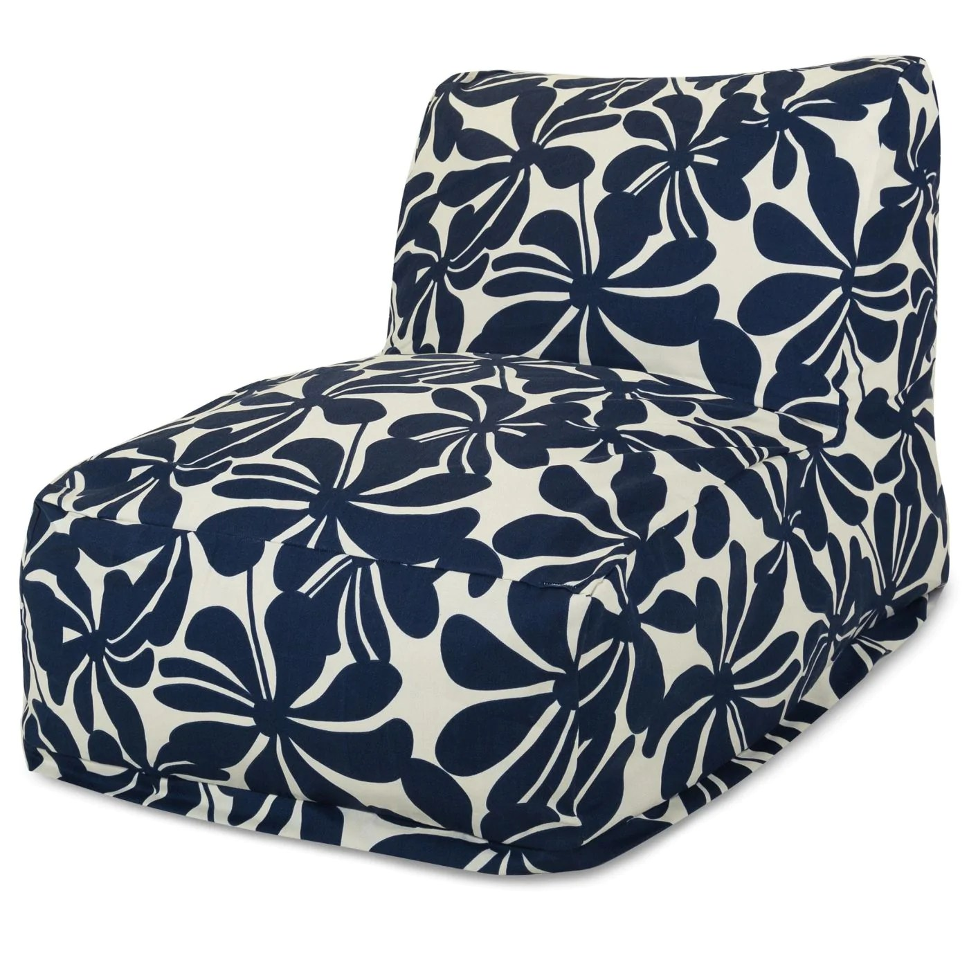 blue bean bag chairs solid wood dining room majestic home navy plantation chair lounger