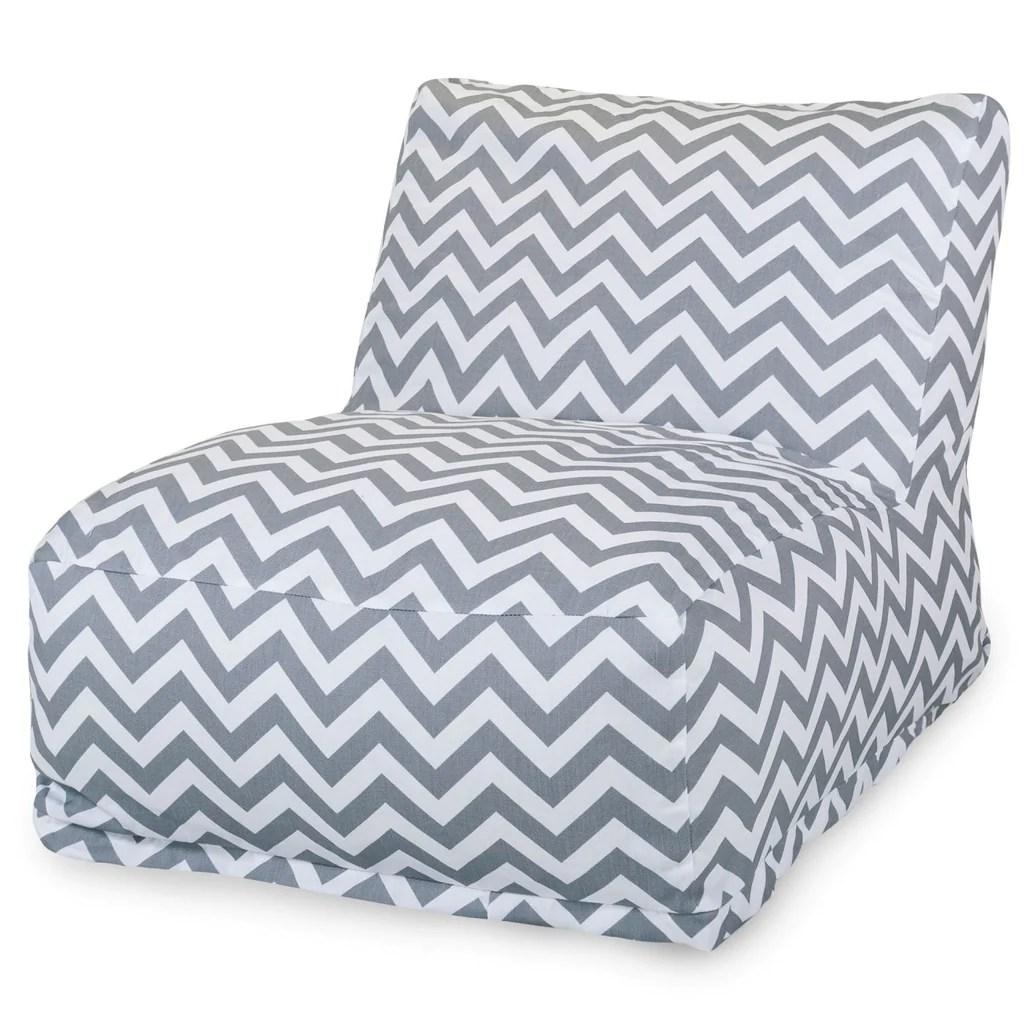 gray chevron chair ergonomic global majestic home bean bag lounger at