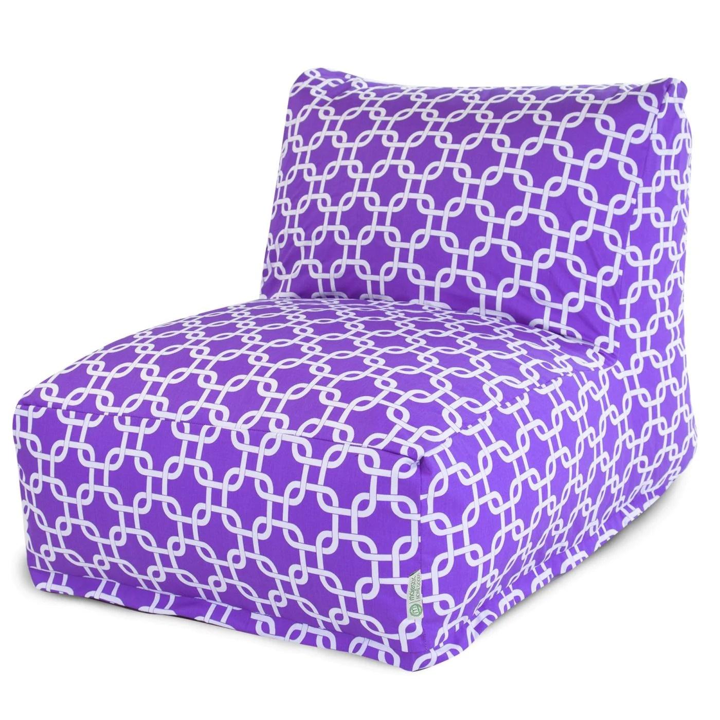 purple bean bag chair retro metal patio chairs majestic home 85907220365 links lounger