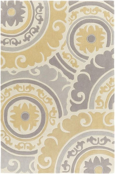 Surya Blowout Sale Up to 70 off COS927123 Cosmopolitan Medallion and Damasks Area Rug Yellow