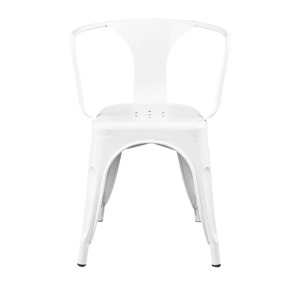 White Stackable Chairs Corsair Stacking Dining Chair In Matte White