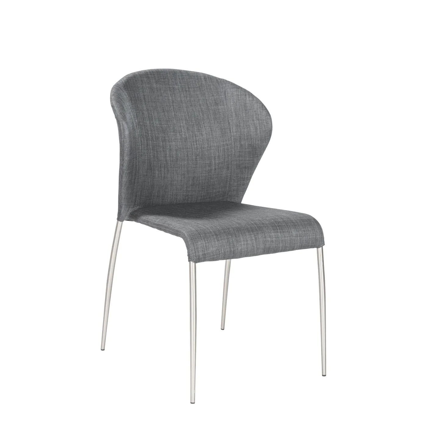 dining chairs with stainless steel legs chair back covers argos euro style sy side in charcoal brushed