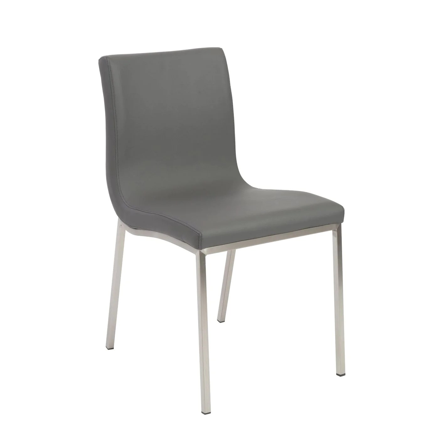 dining chairs with stainless steel legs where to buy chair cane euro style scott in gray brushed