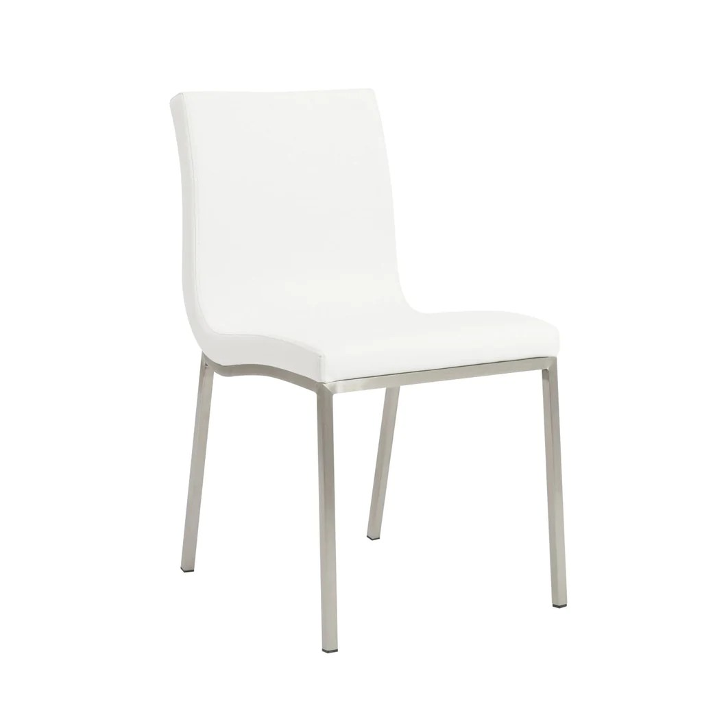 dining chairs with stainless steel legs best affordable office chair 2018 euro style scott in white brushed