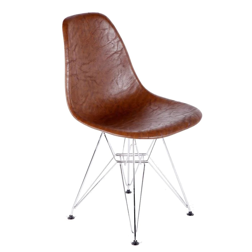 Modern Leather Chairs Unbeatable Price On Fine Mod Imports Vincent Brown Mid Century Modern Leather Dining Chair At Contemporary Furniture Warehouse Fmi10265 Brown