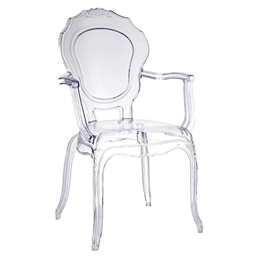 Plastic Clear Chair Traditional Dining Chair With Arms Clear