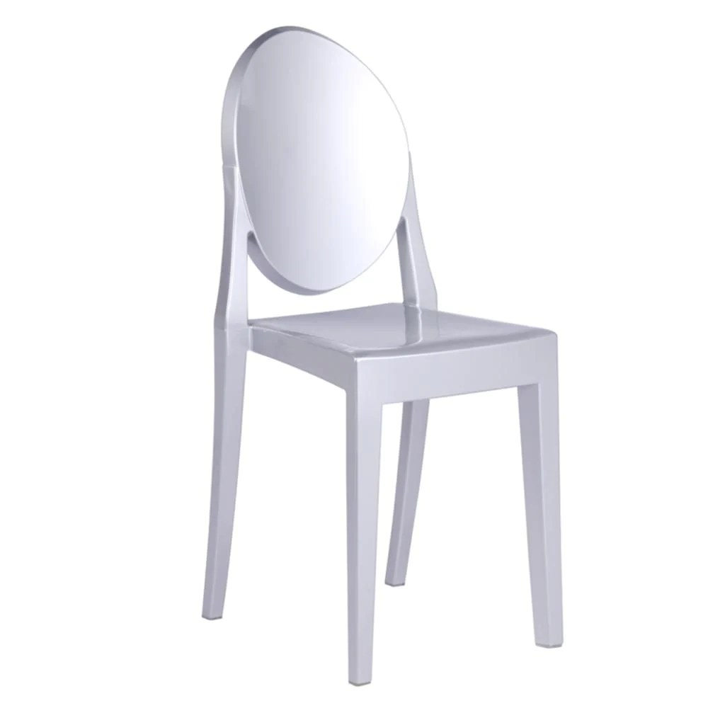 Silver Dining Chairs Clear Side Chair Silver