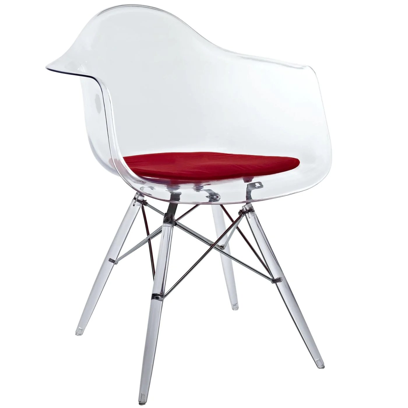 Plastic Clear Chair Modway Pyramid Mid Century Modern Dining Armchair Clear Molded Plastic Eei 221 Red Only 129 75 At Contemporary Furniture Warehouse