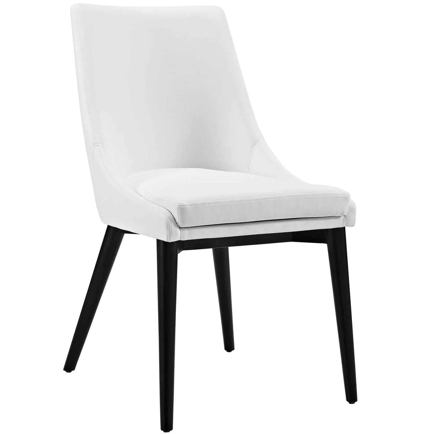 faux leather dining chairs wicker chair aldi modway on sale eei 2226 whi viscount white