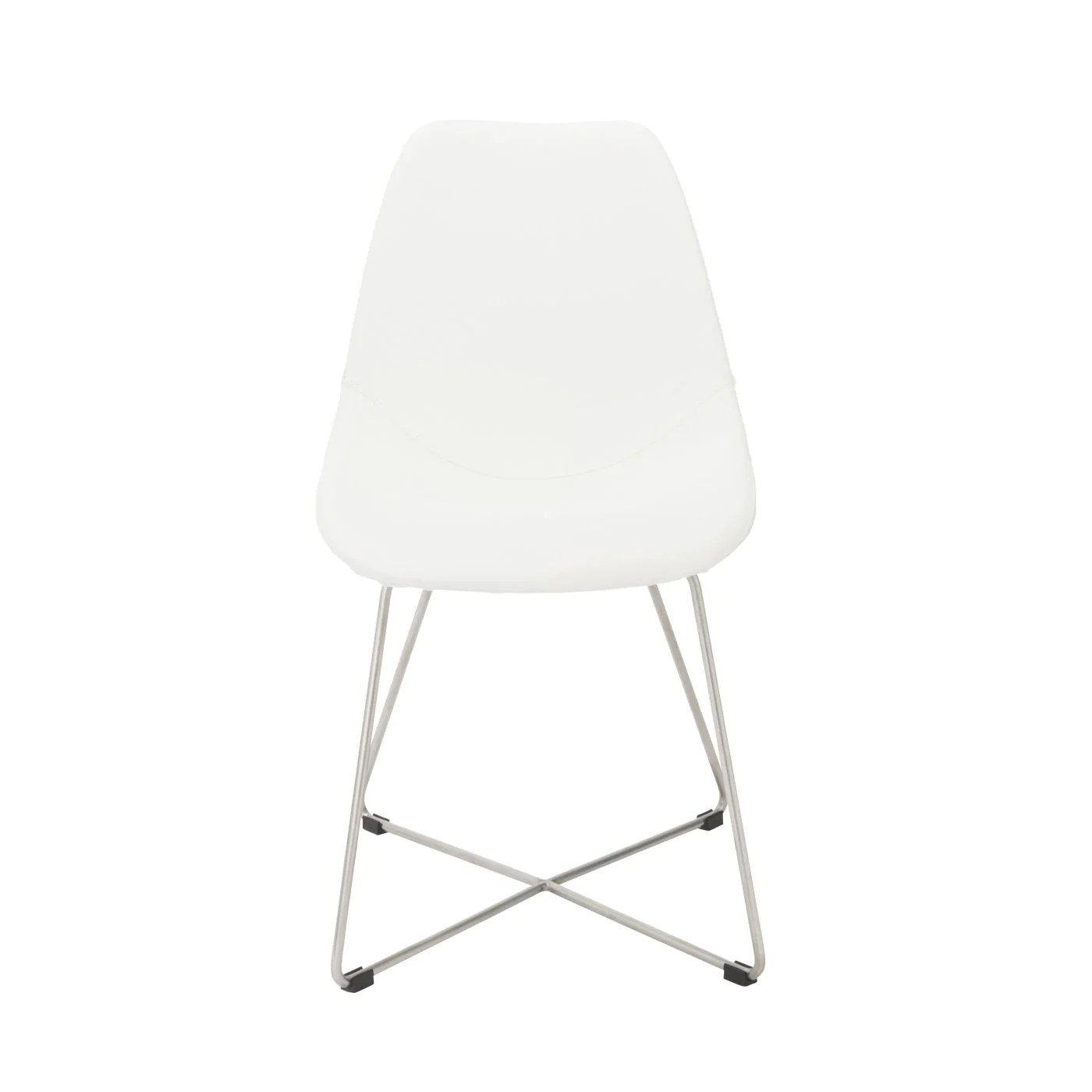 dining chairs with stainless steel legs room and board pike chair euro style anahita in white polyurethane