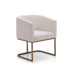 Dining Chairs Fabric Red Chair Vig Furniture Vgvcb8362 Whtbrs Modrest Yukon Modern White Antique Brass