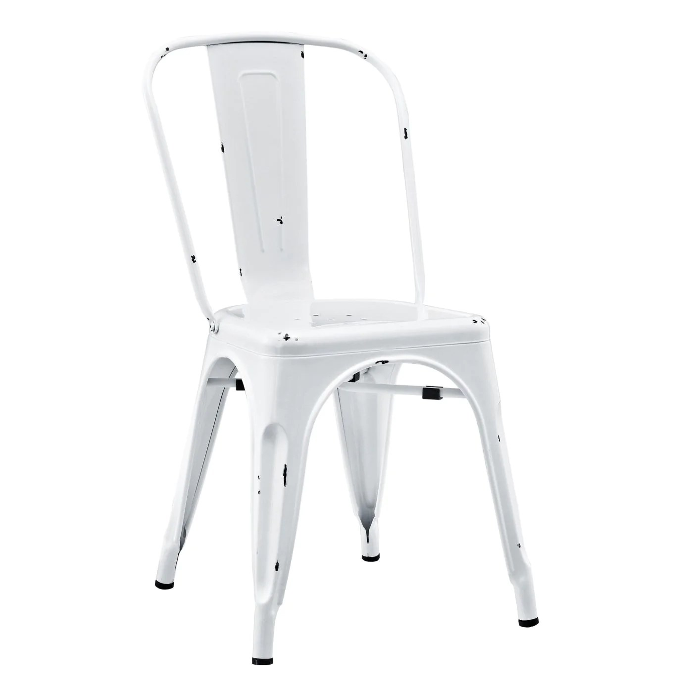 Antique White Dining Chairs Buy Walker Edison Ch33mcwh Metal Cafe Chair Antique White At Contemporary Furniture Warehouse
