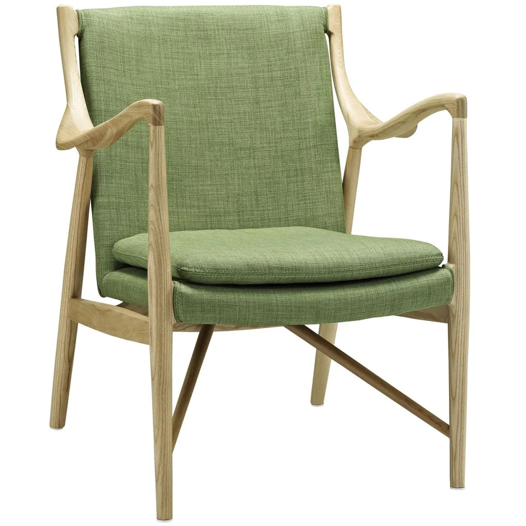 Green Upholstered Chair Makeshift Upholstered Lounge Chair