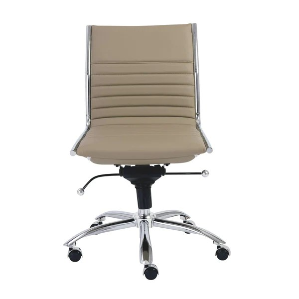 chair without back stadium folding chairs euro style dirk low office armrests in black with chromed steel base