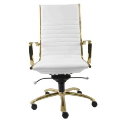 Office Chair Gold Gaming For Sale Euro Style Dirk High Back In White With