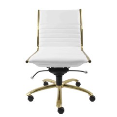 Office Chair Gold Crosley Griffith Metal Buy Euro Style 10676wht Dirk Armless Low Back In Touch To Zoom