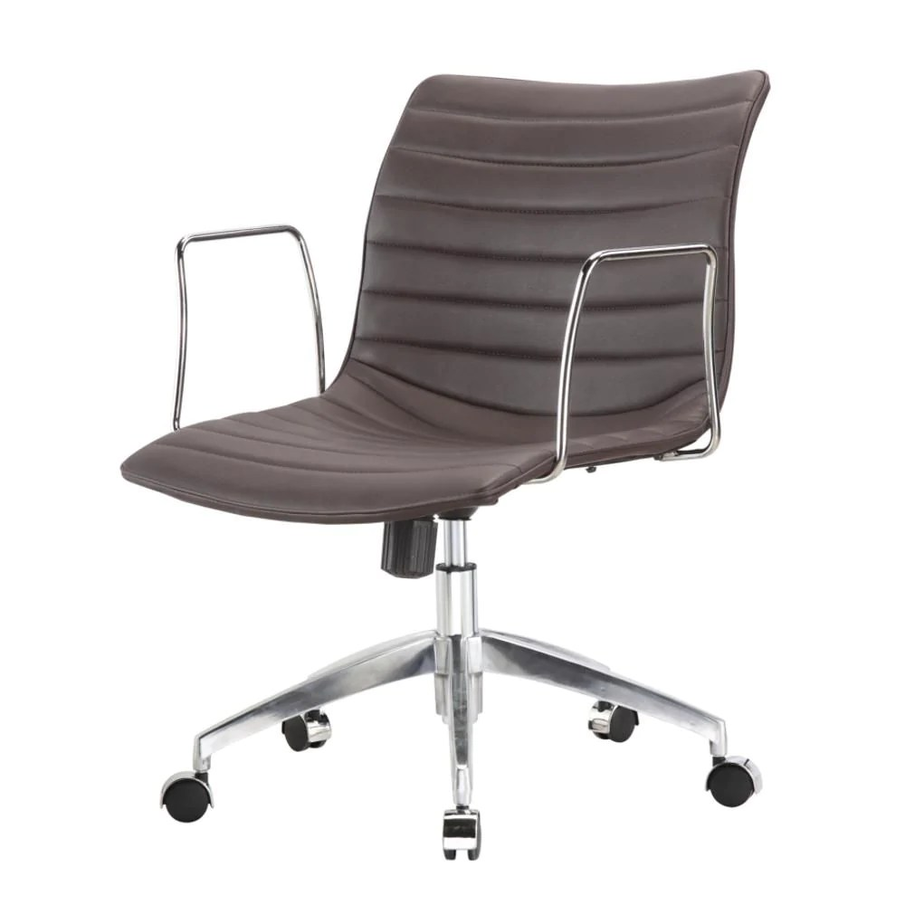 Comfy Office Chairs Unbeatable Price On Fine Mod Imports Comfy Office Chair Mid Back Dark Brown At Contemporary Furniture Warehouse Fmi10224 Dark Brown