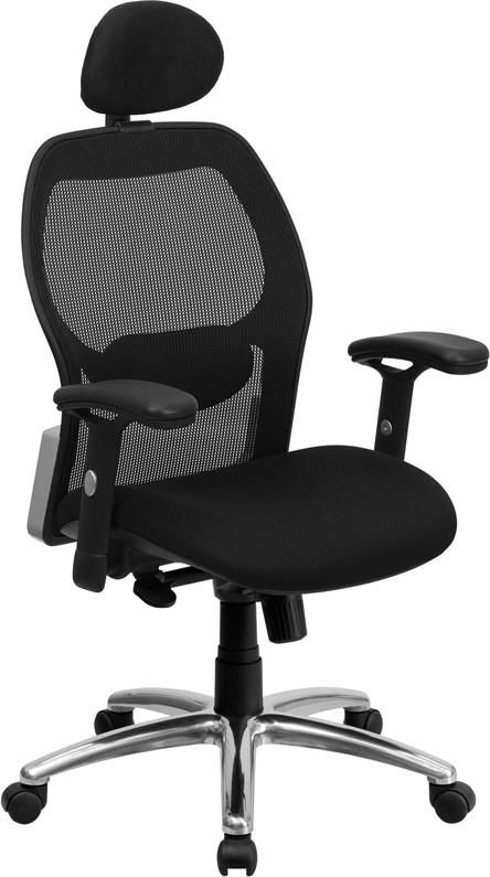 office chair high seat soho concept eiffel flash furniture back black super mesh executive swivel with padded and knee tilt control