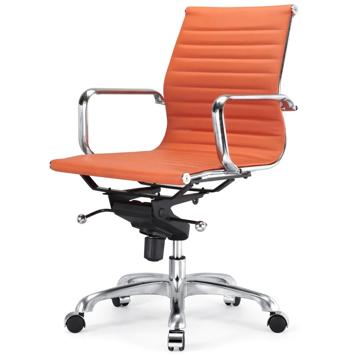 Orange Office Chairs Buy Meelano 344 Orn Modern Office Chair In Orange At Contemporary Furniture Warehouse