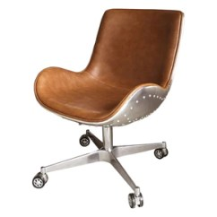 Adjustable Desk Chairs Reupholster Wingback Chair Office At Contemporary Furniture Warehouse Abner Swivel Aluminium Frame Distresed Caramel