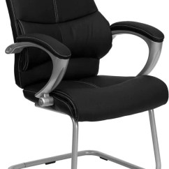 Office Side Chairs Hanging Swing Chair Canada Flash Furniture Black Leather Executive At Contemporary