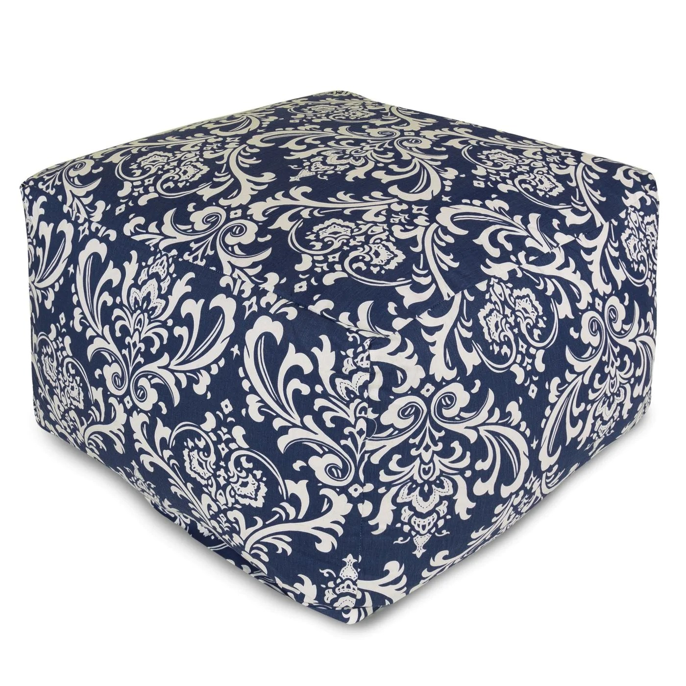 navy blue chair with ottoman yoga instructor training majestic home french quarter large at