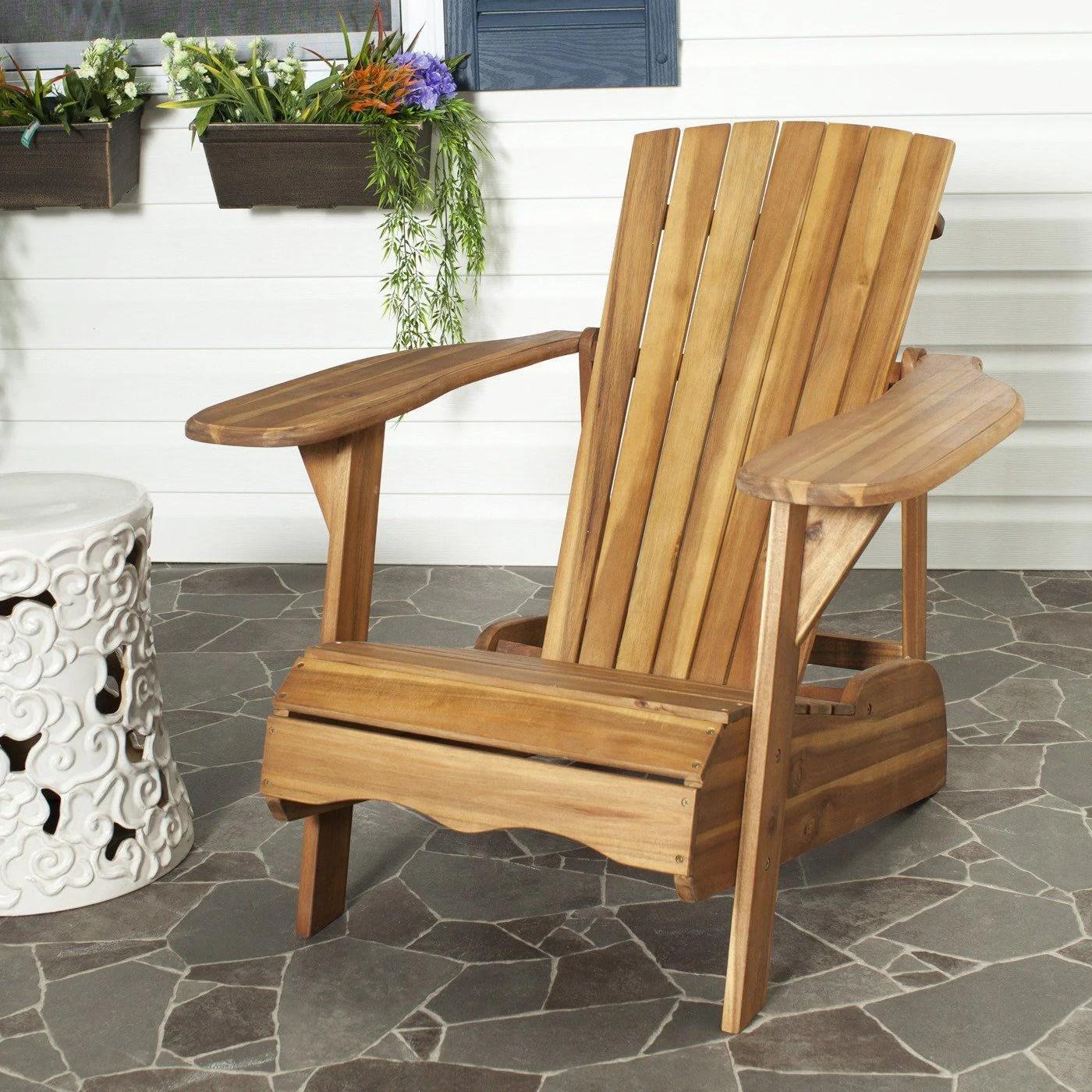 Amazing Deal Safavieh Pat6700c Mopani Adirondack Chair