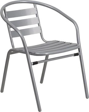 outdoor restaurant chairs single chair weather aluminum dining at contemporary furniture warehouse flash tlh 017c gg metal stack with