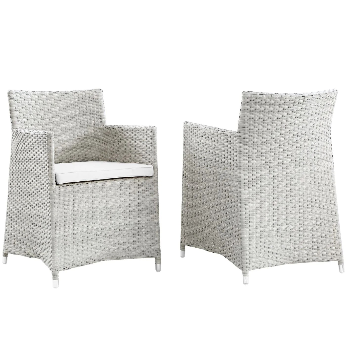 Wicker Outdoor Dining Chairs Modway Outdoor Dining Chairs On Sale Eei 1738 Gry Whi Set Junction Armchair Outdoor Patio Wicker Set Of 2 Only Only 403 75 At Contemporary Furniture