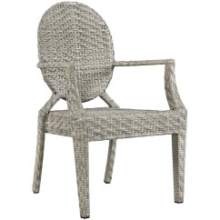 Modern Outdoor Dining Chair Black And White Accent Modway Eei 2683 Brn Casper Armchair